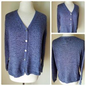 Chico's Design Purple Knit Cardigan Sweater